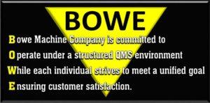 Bowe Machine Quality Mission