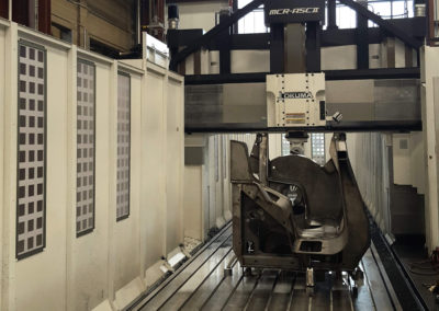 large weldment in Okuma MCR-A5CII