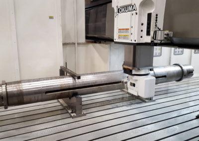 Rotor shaft key milling Okuma MCR-A5CII