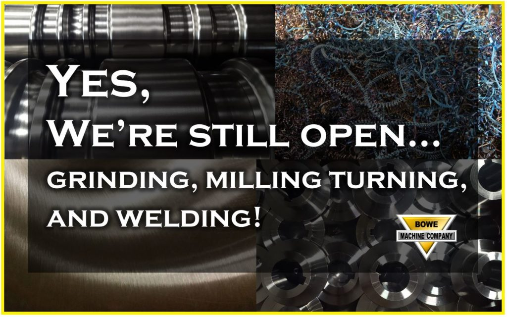 Machine Shop open for business